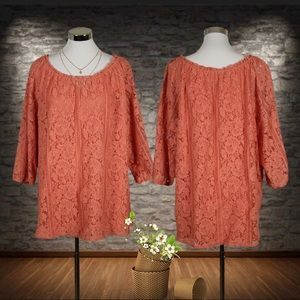Plus Catherines Lace Tunic Size 3X